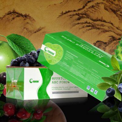Naturalių vaisių kompleksas ABC - dėžutėje 6 miltelių pakeliai po 25 g.,grynasis kiekis - 150 g